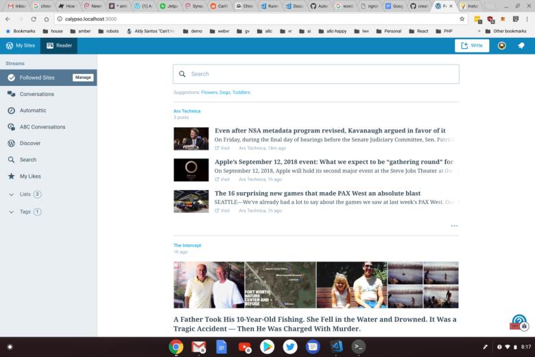 Developing WordPress, Jetpack, and Calypso on ChromeOS