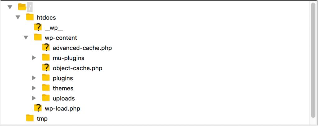 Filezilla SFTP client example screenshot